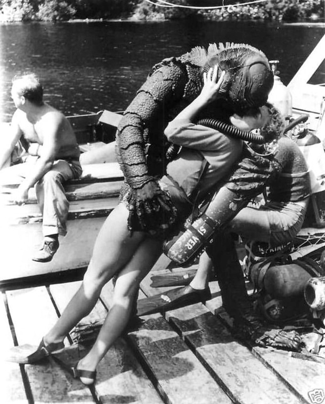 20 - 1953. Behind the scenes of Creature from the Black Lagoon.